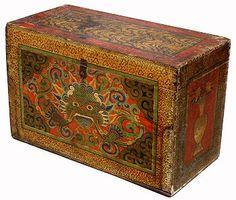 Тибет, 19 век, багажник с Kirtimukkha   багажник с ..Лицо славы..