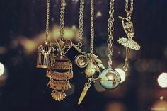 Love these necklaces... I own the second one in from the left :P