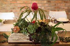 Succulent wedding table box