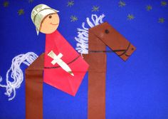shape knight and horse Art Activities For Toddlers, Preschool Activities, Fete Saint Martin, Hl Martin, Chateau Moyen Age, Diy For Kids, Crafts For Kids, Castle Crafts, Origami