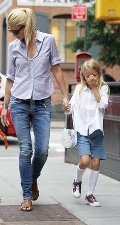 Mom's style Jeans and a button down