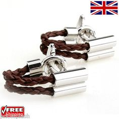 Cool #men's wo#men's #dress brown twined rope cufflinks novelty #design cuff-links,  View more on the LINK: http://www.zeppy.io/product/gb/2/261940233174/