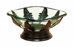 The glass on this fruit bowl is extra thick. Available at dreamhomefurnishings.com with free ship.