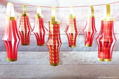 Free Printable Chinese New Year Paper Lanterns - Download and print this paper lantern template and make them and hang to decorate for Chinese New Year. New Year Printables, Party Printables, Free Printables, New Year's Crafts, Paper Crafts, Chinese Paper Lanterns, Purple Pumpkin, Chinese New Year Crafts, Year Of The Pig