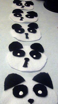 panda felt craft
