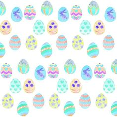 easter egg fabric, wallpaper & gift wrap - Spoonflower ❤ liked on Polyvore featuring backgrounds and easter