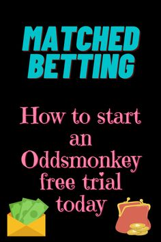 How to get started with Oddsmonkey. Get a free matched betting trial. Earn £1,000 from sign up offers. Tax free side hustle. Free Cash, Tax Free, Matched Betting, Starting School, Looking Online, Online Income, Lost Money, Casino Bonus, Book Making