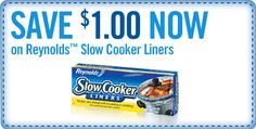 Free Online Printable Coupon for Reynolds® Slow Cooker Liners