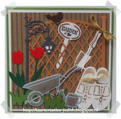 Marianne Design, Diy Cards, Outdoor Gardens, Garden Tools, Fathers Day, Journaling, Scenery, Card Making, Scrap