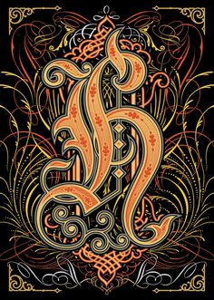 """H"" for Alphabetica exhibition by Bobby Haiqalsyah, via Behance"