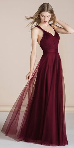 Exquisite Tulle V-neck Neckline Floor-length A-line .- Exquisite Tulle V-neck Neckline Floor-length A-line Bridesmaid Dresses Exquisite Tulle V-neck Neckline Floor-length A-line Bridesmaid Dresses - Christmas Bridesmaid Dresses, Red Bridesmaids, Tulle Bridesmaid Dress, Homecoming Dresses, Dresses For Christmas, Dresses Elegant, Beautiful Dresses, Formal Dresses, Wedding Dresses