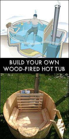 Relax with friends and family in your backyard this winter by building your own wood-fired hot tub!