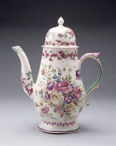 Bow Porcelain Factory English, 1744-1775  Coffee Pot, c. 1748
