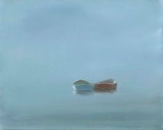 Dories in Mist by Anne Packard