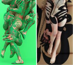 Camouflaged Human Canvas: Faux Body Art by Kim Joon