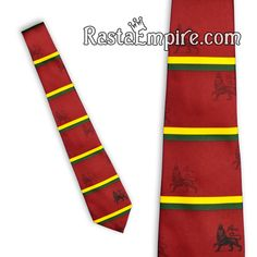 Lion of Judah Tie - Red