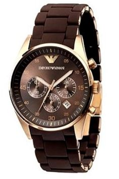 Emporio Armani Sportivo Brown Chronograph Watch
