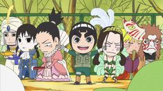 It's bad enough Shikamaru is in a dress, but poor Neji! (Rock Lee and his Ninja Pals).