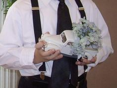 What ring bearer would want to carry a pillow when he could be carrying a truck?