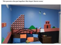 The Geekiest Parents of All Time -- Check Out the Nintendo/Mario Themed Rooms - Love it!