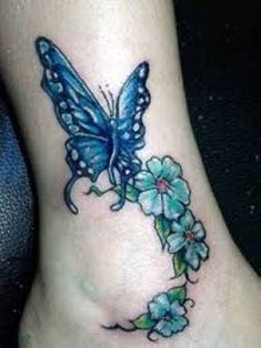One of the most popular tattoo designs in the world is the butterfly tattoo. The butterfly tattoo is mainly worn by women. Butterfly tattoos can also hold symbolic importance to those who wear this beautiful tattoo. Just like all animal tattoos, the. Butterfly Ankle Tattoos, Butterfly With Flowers Tattoo, Daisy Tattoo Designs, Butterfly Tattoos For Women, Ankle Tattoos For Women, Ankle Tattoo Designs, Tattoos For Women Half Sleeve, Tattoo Designs For Girls, Tattoo Designs And Meanings