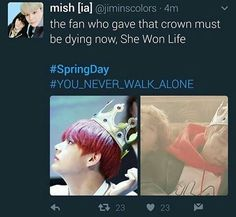 Nah it can't be the same Crown. Unless taetae's head is way bigger then RapMon's