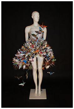 Paper Crane Dress III by jaaadey.deviantart.com on @deviantART