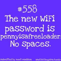 new wi-fi password