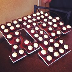 TAMU mini cupcakes display
