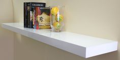 Floating Shelf Gloss White 1500x250x50mm