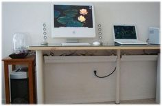 how to hide cables on walls or furniture  and decorate with electric cables  http://www.lushome.com/organize-cable-clutter-hide-cables-walls/188
