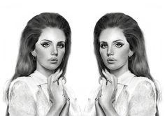 Lana Del Rey drawing by Jossluka