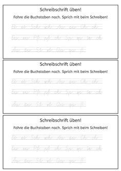 Grundschule Schrift üben | Arbeitsblatt Schreiben ausmalen ...