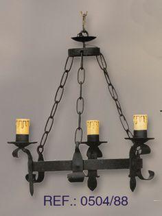 Aplique en hierro forjado mas modelos en apliques rusticos apliques - Lamparas de techo rusticas ...