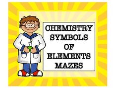 Chemistry Symbols of Elements Maze