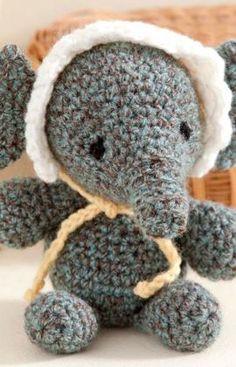 #Free Pattern; Crochet; Baby Elephant  ~~