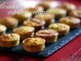 Recette Bouchées apéritives crabe et crevettes grises