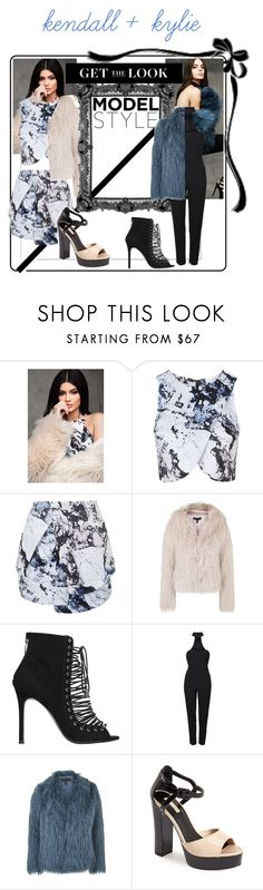 """Kendall and Kylie Jenner"" by starbucks-cake ❤ liked on Polyvore featuring Topshop"