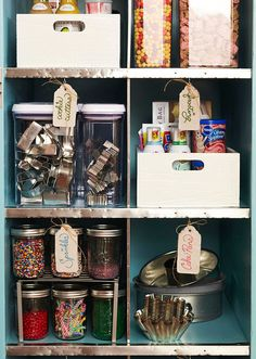 Organized Baking Supplies