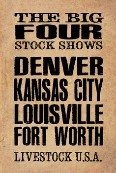 POSTER Denver Kansas City Louisville and by ZietlowsCustomSigns, $12.00
