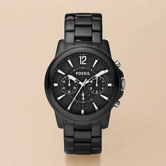 FOSSIL® Watch Styles Ceramic Watches:Women Grant Ceramic Watch - Black CE5008
