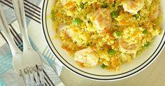 Couscous marroquino com camarões