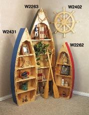 Small Boat Shelf Plans - Most parts including the bottom are drawn FULL SIZE for easy transfer to your wood. Projects are made from pine beaded board, plywood and some stock. x x (Small boat plan only. Boat Bookcase, Bookcase Plans, Bookshelves, Canoe Shelf, Wooden Canoe, Building A Container Home, Diy Boat, Nautical Home, Small Boats