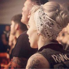 Lower bun with bandana. I think yes!!