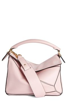 LOEWE 'Mini Puzzle' Calfskin Leather Bag. #loewe #bags #crossbody #leather #clutch #satchel #shoulder bags #hand bags