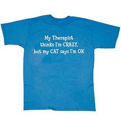 Cat Therapist T-Shirt!