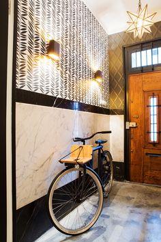 Entry Hallway, Foyer, Vestibule, Interior Decorating, Interior Design, Eclectic Style, Interior Inspiration, House Plans, Wall Lights