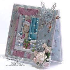 Christmas Puppy by Wild Rose Studio Christmas Puppy, Merry Christmas Card, Handmade Christmas, Christmas Cards, Christmas Ideas, Card Making Inspiration, Making Ideas, Altered Art, Cardmaking