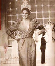 Maye Brandt  Miss Venezuela 1980 un Año después lista para entregar la Corona a su sucesora ..