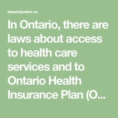Health and Disability Tax Credits, Health Insurance Plans, Money Matters, Disability, Ontario, Benefit, Health Care, Law, How To Plan